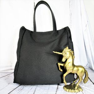 French Connection Black Reversible Crossbody Tote